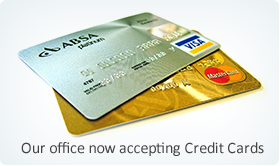 Now accepting credit cards at office location